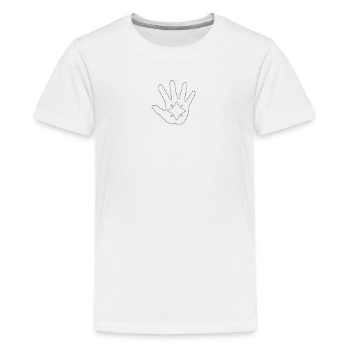Hand and Star in Black and White - Kids' Premium T-Shirt