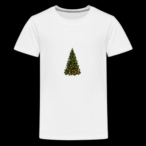 Large Christmas Tree with Red Ribbon - Kids' Premium T-Shirt