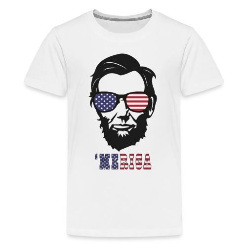 4th of july Abe lincoln t-shirts - Kids' Premium T-Shirt