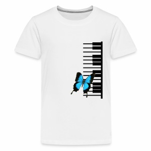 Black Piano and butterfly - Kids' Premium T-Shirt
