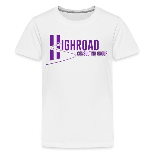 Highroad Logo Overlay Purple - Kids' Premium T-Shirt