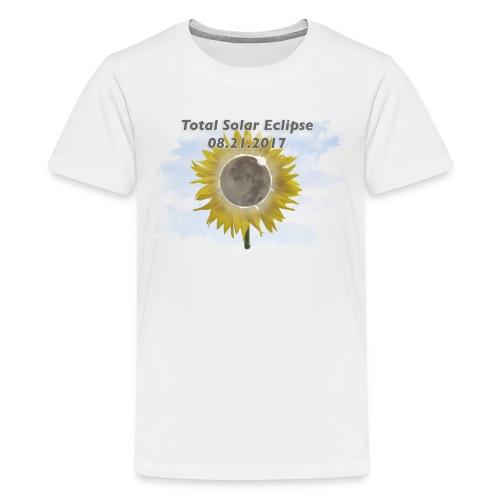 Total Sunflower Eclipse Design 3 - Kids' Premium T-Shirt