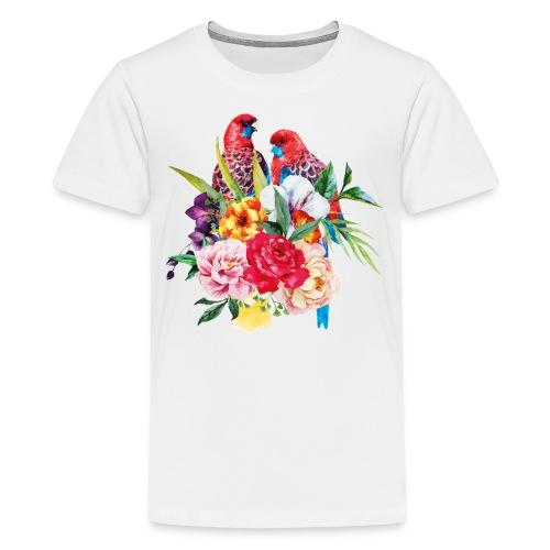 Luminous Sweet Tropical Toucan Watercolor Print - Kids' Premium T-Shirt