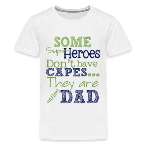 hero dad on fathers - Kids' Premium T-Shirt