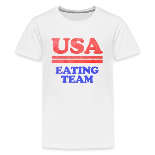 Funny 4th of July USA Eating Team Independence Day - Kids' Premium T-Shirt