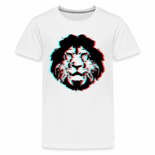 3D Lion Face - Kids' Premium T-Shirt