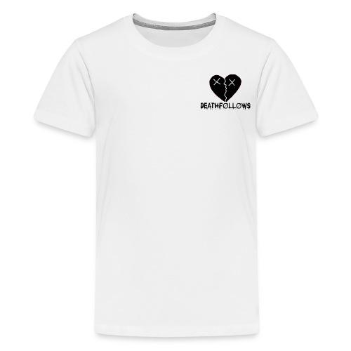 Heart Shape DEATHFOLLOWS LOGO - Kids' Premium T-Shirt