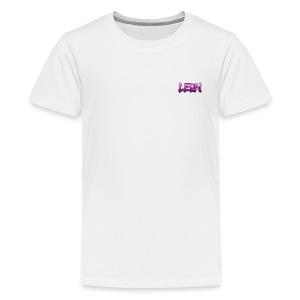 Pink Leon White Tee - Kids' Premium T-Shirt
