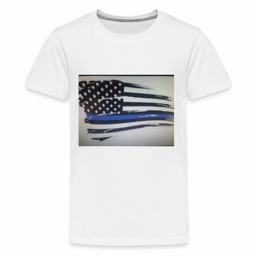 Back the Blue Flag Design - Kids' Premium T-Shirt