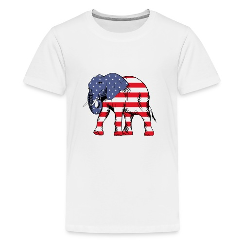 Patriotic Elephant - Kids' Premium T-Shirt