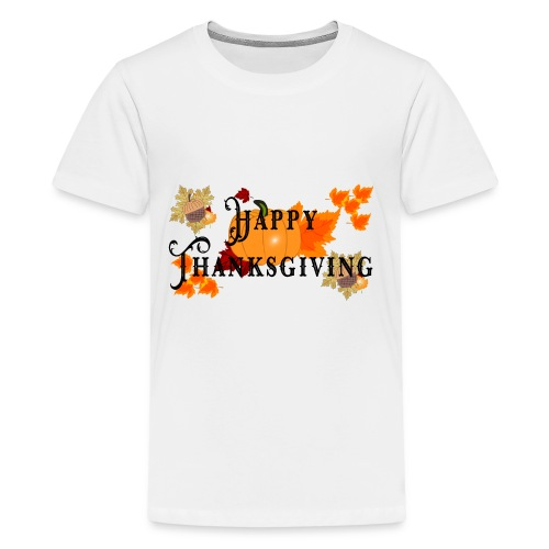 Happy Thanksgiving greeting card - Kids' Premium T-Shirt
