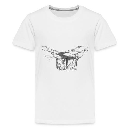 Waterfall single line2 - Kids' Premium T-Shirt