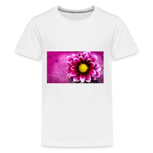 pink flower 4k 3840x2 - Kids' Premium T-Shirt