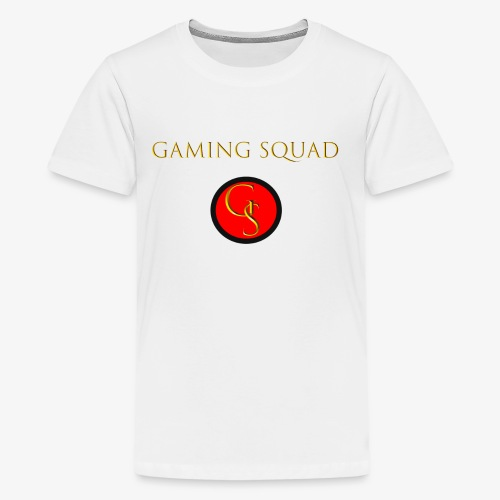 Channel Logo with Gaming Squad text - Kids' Premium T-Shirt