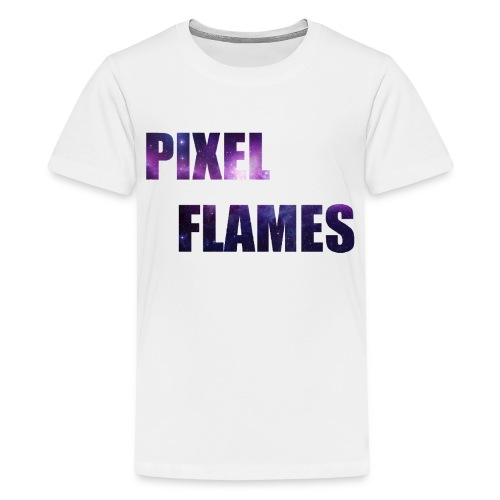 PIXEL FLAMES (Galaxy Edition) - Kids' Premium T-Shirt