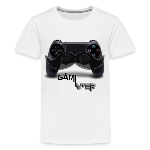 ps4 dual shock 4 moustache - Kids' Premium T-Shirt