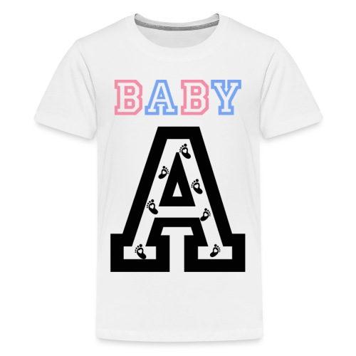 Twins - Baby gender reveal for baby A - Kids' Premium T-Shirt
