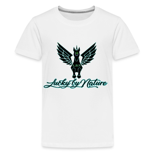 Lucky By Nature logo - Kids' Premium T-Shirt