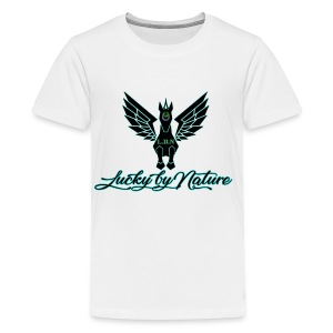 Lucky By Nature logo - Kids' Premium T-Shirt