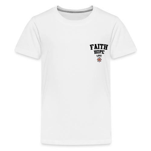 Faith love hope - Kids' Premium T-Shirt
