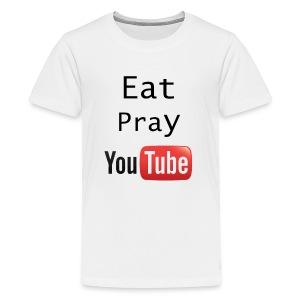 Eat Pray YouTube Shirt - Kids' Premium T-Shirt