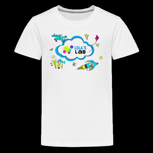 Lola's Lab illustrated logo tee - Kids' Premium T-Shirt