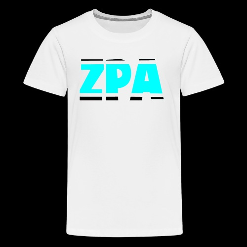 ZACHPLAYZARMY BLACK AND TEAL - Kids' Premium T-Shirt