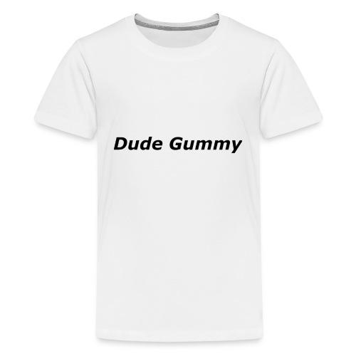 Dude Gummy LOGO (Black) - Kids' Premium T-Shirt