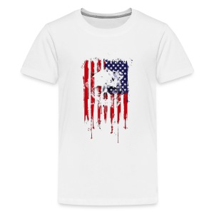 American Flag Skull 4th of July graphic Collection - Kids' Premium T-Shirt