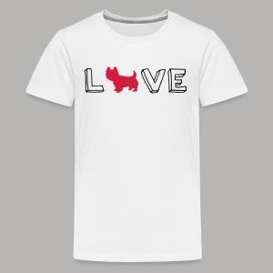 Westie Love - Kids' Premium T-Shirt