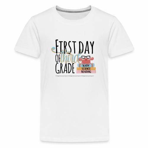 First Day of Third Grade - Kids' Premium T-Shirt