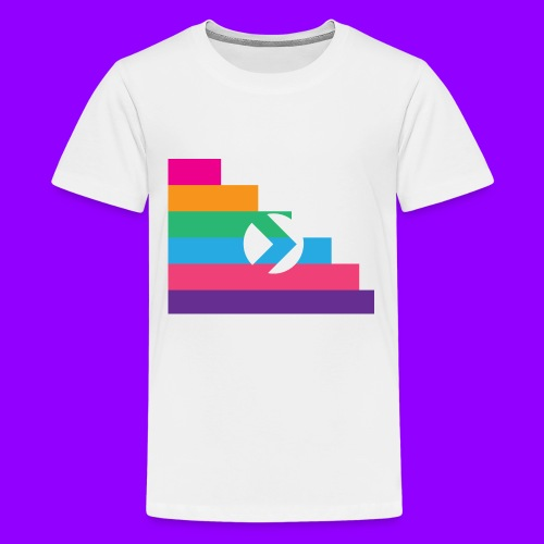 Yibizen Lined Logo Design - Kids' Premium T-Shirt