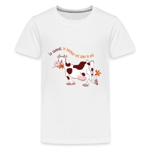 On Saturday hapiness is in the field - Kids' Premium T-Shirt