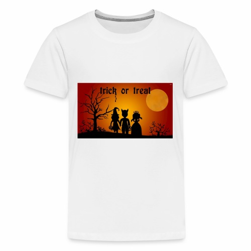 Wallpaper trick or treat Happy Halloween hd - Kids' Premium T-Shirt