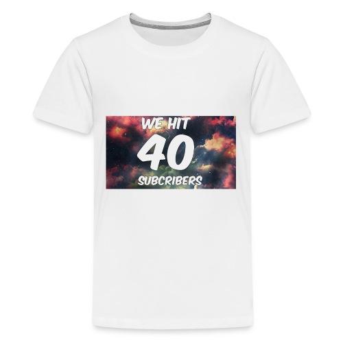Lankydiscmaster's 40 subs shirt and more - Kids' Premium T-Shirt