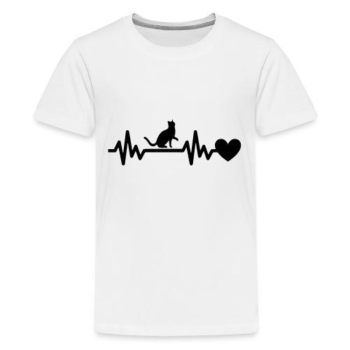 Cat Heart - Kids' Premium T-Shirt