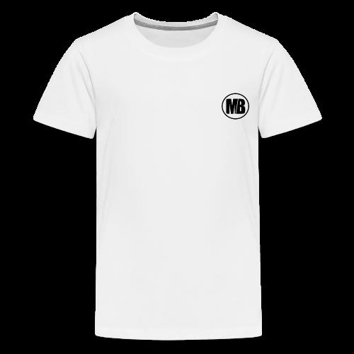MB logo White - Kids' Premium T-Shirt