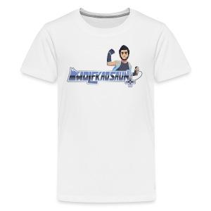 Wolfkaosaun and character - Kids' Premium T-Shirt