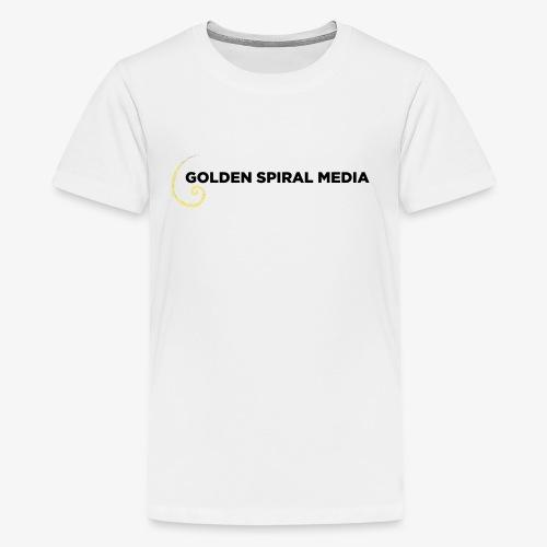 Golden Spiral Media Black Logo - Kids' Premium T-Shirt