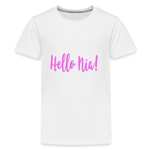 Hello Nia! - Kids' Premium T-Shirt