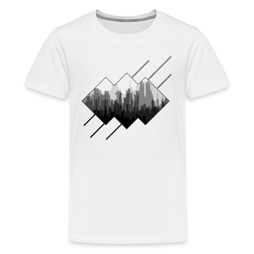 BLACK AND WHITE CITY - Kids' Premium T-Shirt