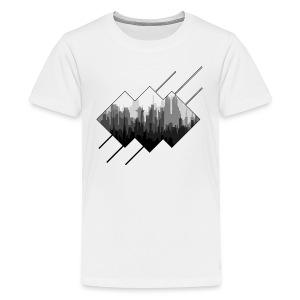 BLACK AND WHITE CITY - T-shirt premium pour ados