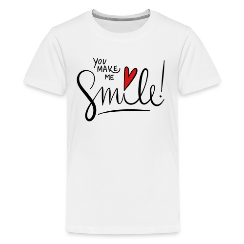 You make me smile Front - Kids' Premium T-Shirt