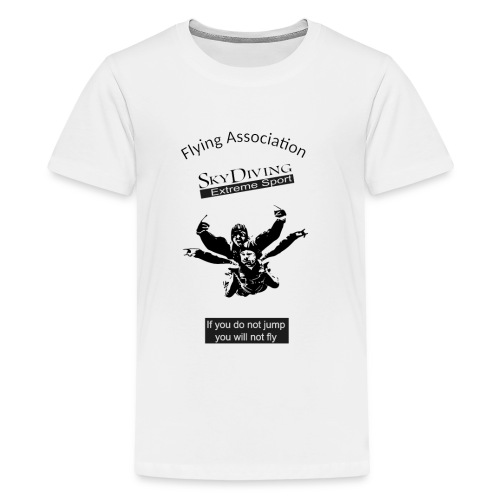Flying Association Sky Diving Extreme Sport - Kids' Premium T-Shirt