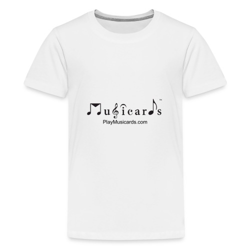 Musicards logo and website - Kids' Premium T-Shirt