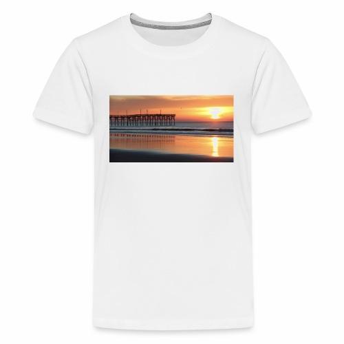 fall sunset on the beach - Kids' Premium T-Shirt