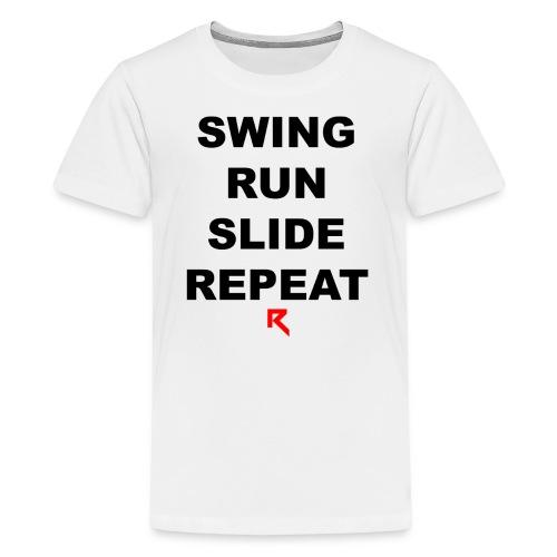 Swing Run Slide Repeat (Official Ruth Clothing) - Kids' Premium T-Shirt