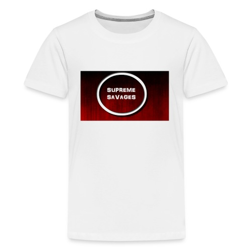 Black Red Grunge Texture - Kids' Premium T-Shirt