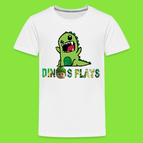 dinos plays - Kids' Premium T-Shirt