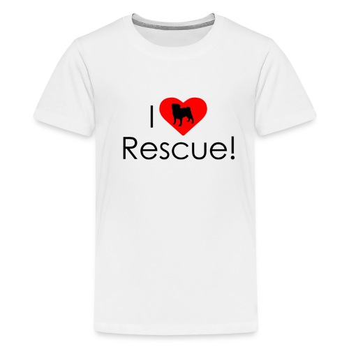 I Heart Rescue Pug - Kids' Premium T-Shirt